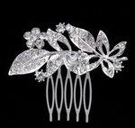 Haarkam leafs - zilver