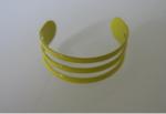 Teenring geel aluminium