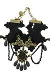 Vintage/gothic enkelbandje zwart (1)