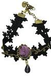 Vintage/gothic enkelbandje zwart (7)
