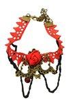 Vintage/gothic enkelbandje rood