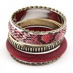 Bangle set rood/goud