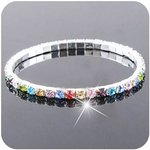 Strass armband 1 rij Blank of Multi color