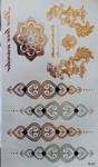 Flash tattoos armbanden/tekst goud/zilver