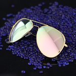 Zonnebril goud/roze