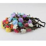 Elastische bloemen haarband - diverse kleuren