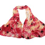 Sjaal ster - rood