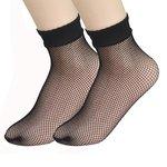Visnet / fishnet sokken - zwart (klein)