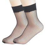 Visnet / fishnet sokken - zwart (middel)