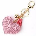 Tas / Sleutelhanger strass hart
