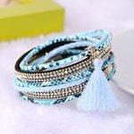 Wikkel armband - Blauw