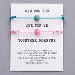 Giftcard met 2 armbanden roze en blauw