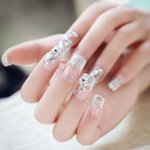 Press-on nagels glitter/strass