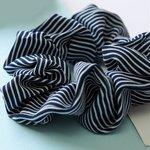 Scrunchie streep -D.blauw