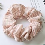 Scrunchie streep -roze