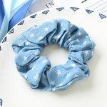 Scrunchie licht  jeans blauw - ster