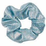 Scrunchie metallic glitter -licht  blauw
