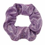 Scrunchie metallic glitter -Paars