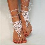 Barefoot sandels  gehaakt - Wit