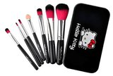 Hello kitty make-up kwasten in blikje zwart_
