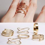 Ringen set 6 delig goudkleurig