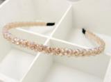 Haarband kristal kralen champagne