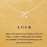 """Giftcard met ketting """"Luck"""""""