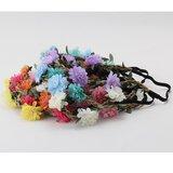 Elastische bloemen haarband - diverse kleuren_