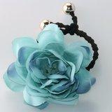 Haar elastiek bloem - Div kleuren_