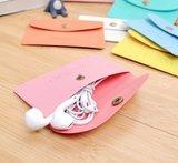 Coin purse / mini portemonnee plat  - diverse kleuren_
