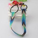 Elastische haarband geborduurd - diverse kleuren_