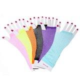 Visnet vingerloze handschoenen - lang - div kleuren_