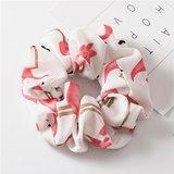 Scrunchie flamingo wit_