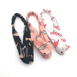 Elastische haarband flamingo - div kleuren