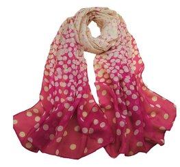 Dunne sjaal met rondjes - Roze
