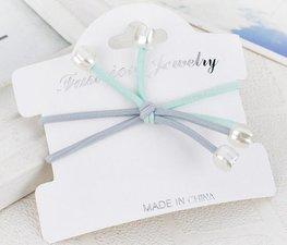 Set van 2 dubbele haar elastieken - Blauw
