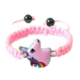 Armband eenhoorn/unicorn - Roze