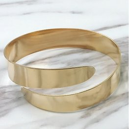 Upper arm armband / bangle breed Goud
