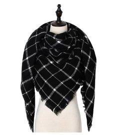 Sjaal/omslagdoek Zwart/wit