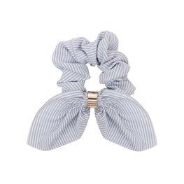 Scrunchie streep met strik - Div kleuren
