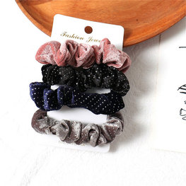 Set van 4 scrunchies