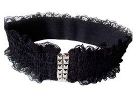 Elastische kanten riem - Zwart