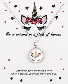 Eenhoorn/unicorn ketting op giftcard #1