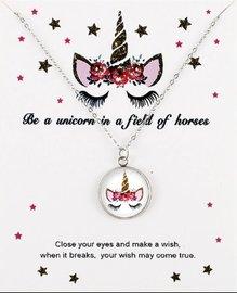 Eenhoorn/unicorn ketting op giftcard #2