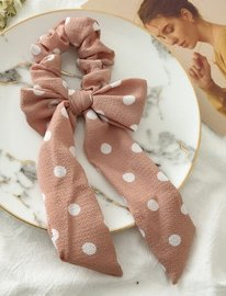 Scrunchie stip met strik - Div kleuren