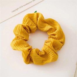scrunchie - Donker geel