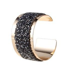 Brede armband - Goud/zwart/zilver