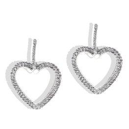 Oorbellen strass hart - zilver
