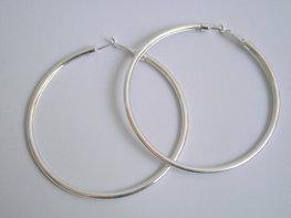Creolen zilver 4.5 cm