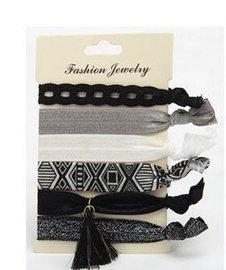 Ibiza elastiekjes Zwart/wit